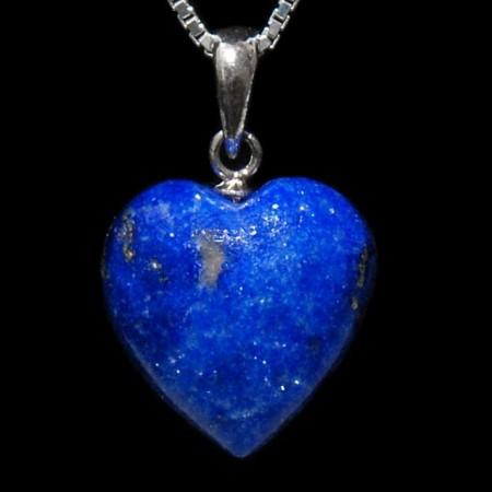 Hjerte-anheng i lapis lazuli 15mm
